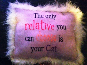 I think after this mom gift I had to talk with her about toning down the kitty gifts. This I do regret.